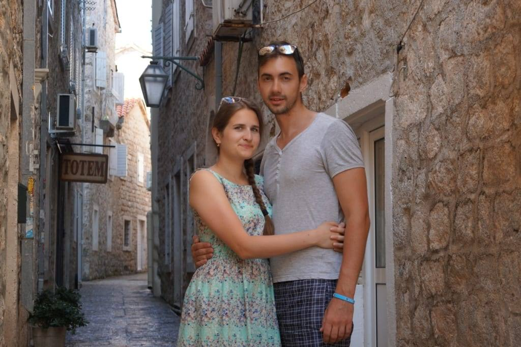 Beautiful streets of Budva Old town