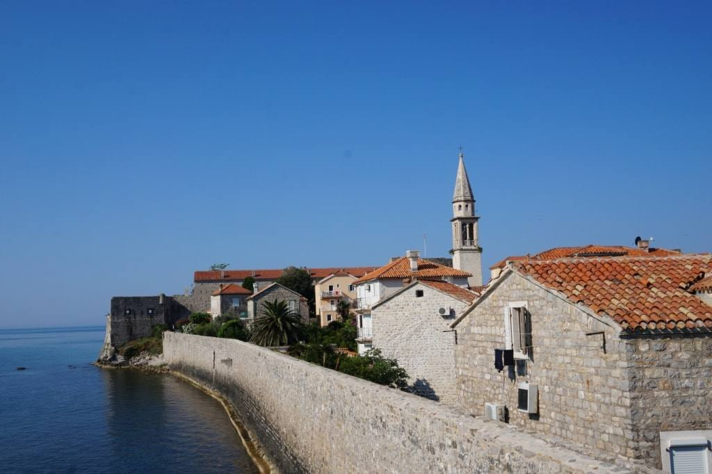 view from fortress walls in Budva Old town