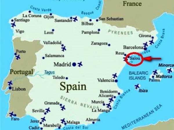Ispaniya Salou Dostoprimechatelnosti Na Karte