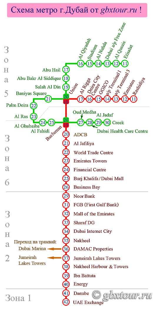 Схема метро дубай с достопримечательностями на русском москва и дубай разница во времени