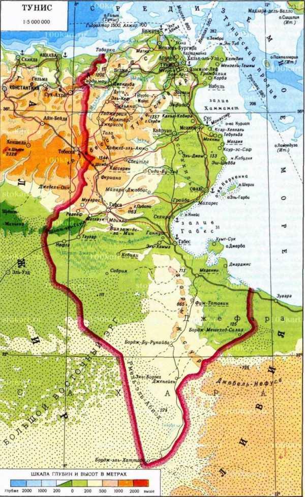 монастир на карте туниса на русском языке